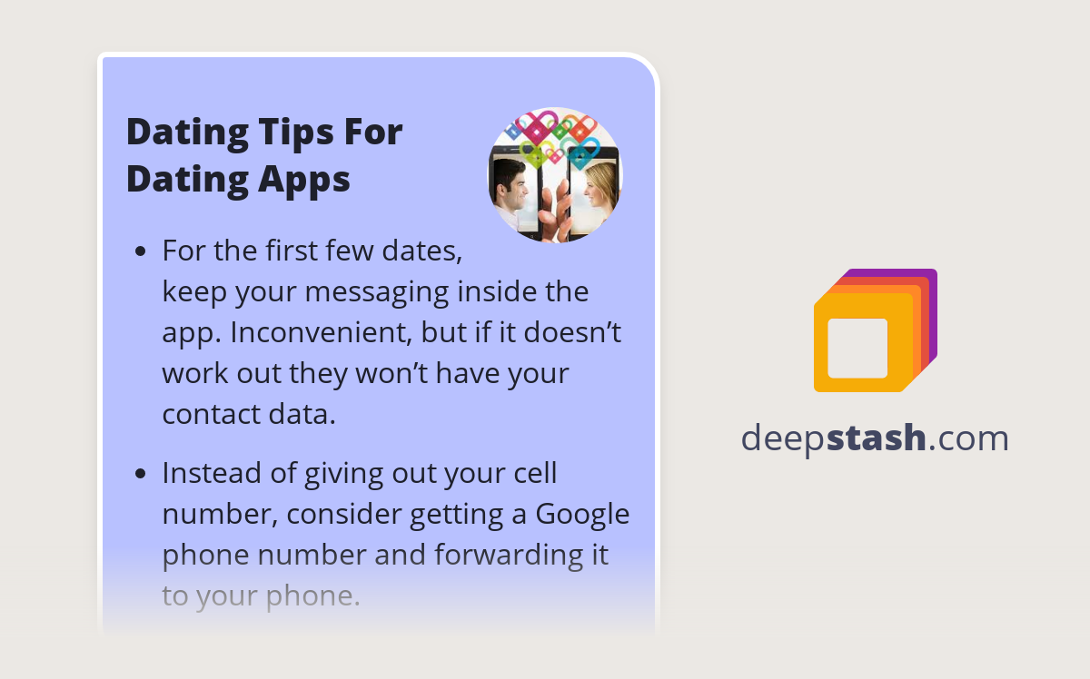 tips for dating on apps