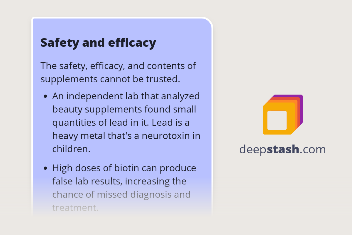 safety and efficacy  deepstash