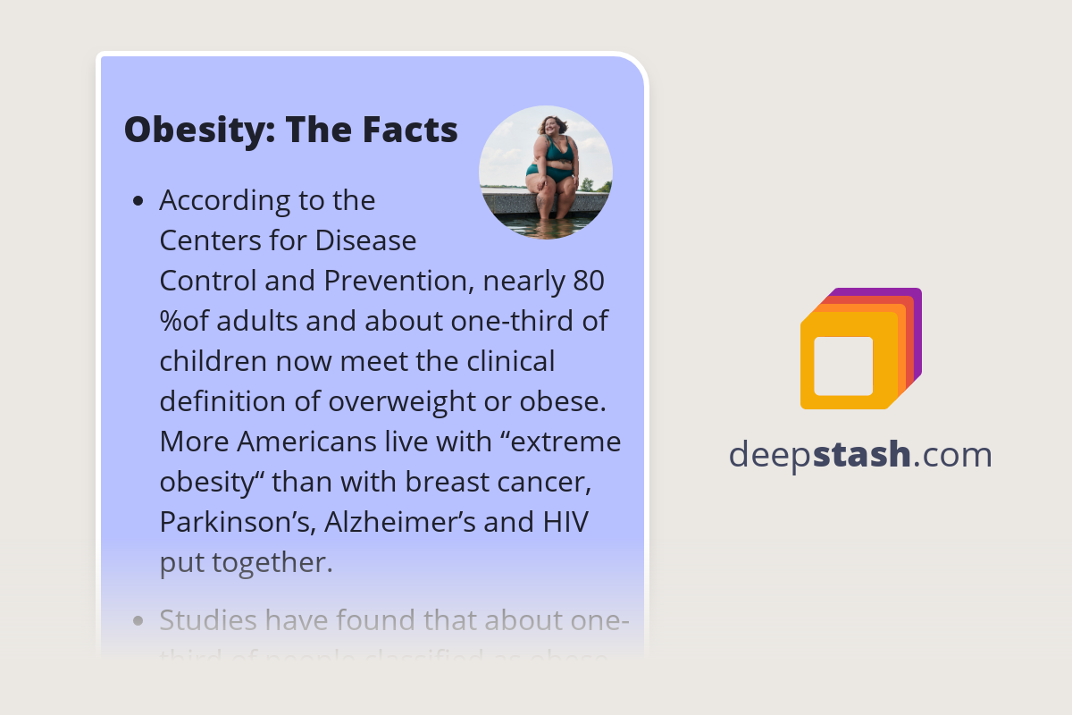 Obesity The Facts Deepstash